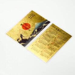 金箔カレンダー